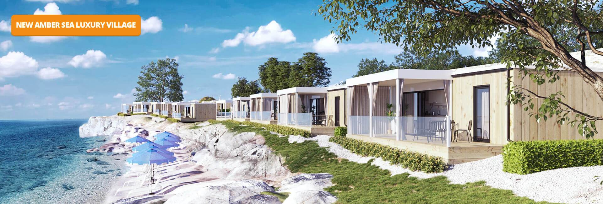 Campiste Aminess Park Mareda Amber Sea Luxury mobile homes terrace view