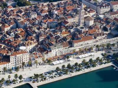 Dalmatia Split Riva air view
