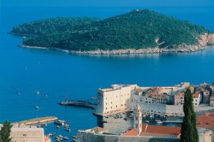 Old town Dubrovnik and island