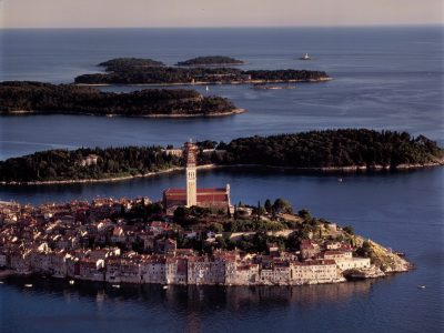 Rovinj air view