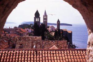 Rab town view