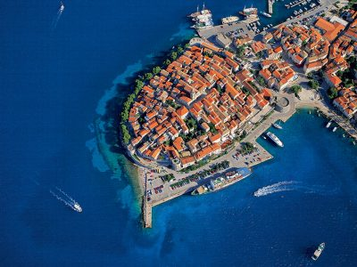 Town Korčula air view II