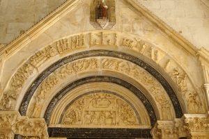 Trogir church archway