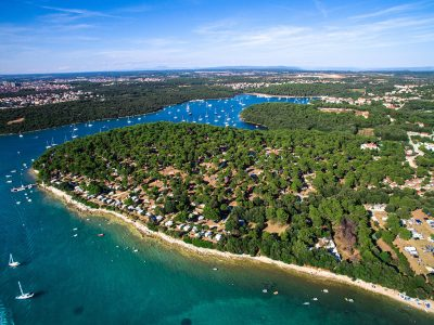 Camping Arena Indije air view | AdriaCamps