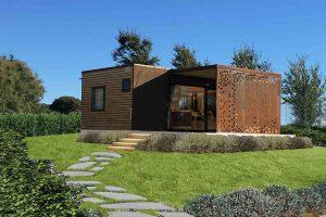 camping krk bella vista premium stacaravans met een terras in de tuin