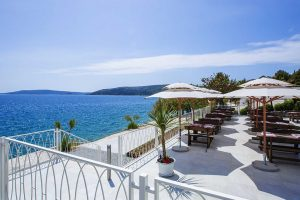 Campsite Belvedere Trogir gastro world restaurant terrace spectacular view | AdriaCamps