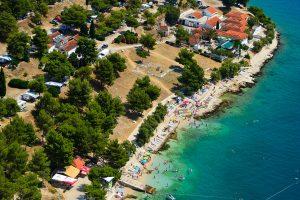 Camping Belvedere Vranjica lucht uitzicht | AdriaCamps