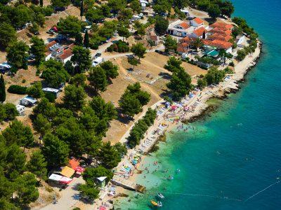 Vista aerea del campeggio Belvedere Vranjica | AdriaCamps