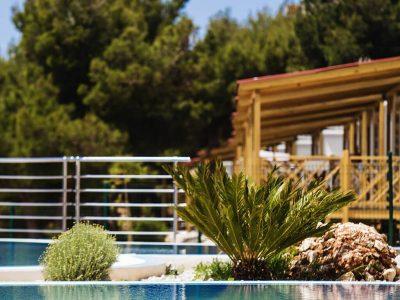 Campsite Belvedere Vranjica mobile homes pool | AdriaCamps