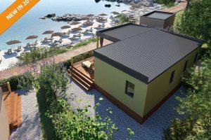 Kamp Jezevac: nova Lungomare Premium mobilna kucica | AdriaCamps