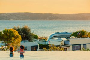 camping krk pool view on the sea