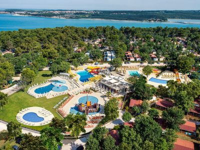 Campsite Resort Lanterna: new family aquapark airview | AdriaCamps