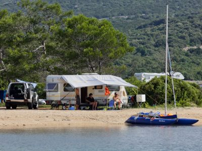 Camping Lopari pitch by the sea