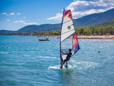 Camping Lopari windsurfen