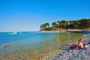 Camping Medulin pebbled beach