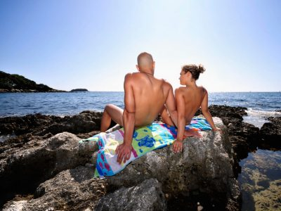 Camping Naturist Istra Couple on the beach