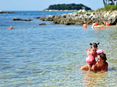 Camping Naturist Istra family at the beach