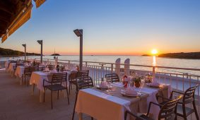 Kamp Orsera restoran Vala i zalazak sunca | AdriaCamps