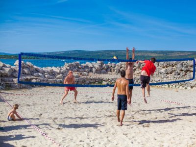 Camping Rapoca beach volley playground