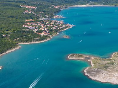 Camping Slamni uitzicht vanuit de lucht | AdriaCamps