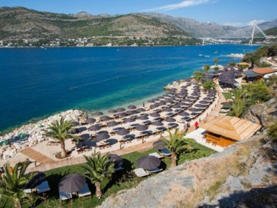 Camping Solitudo strand air view | AdriaCamps