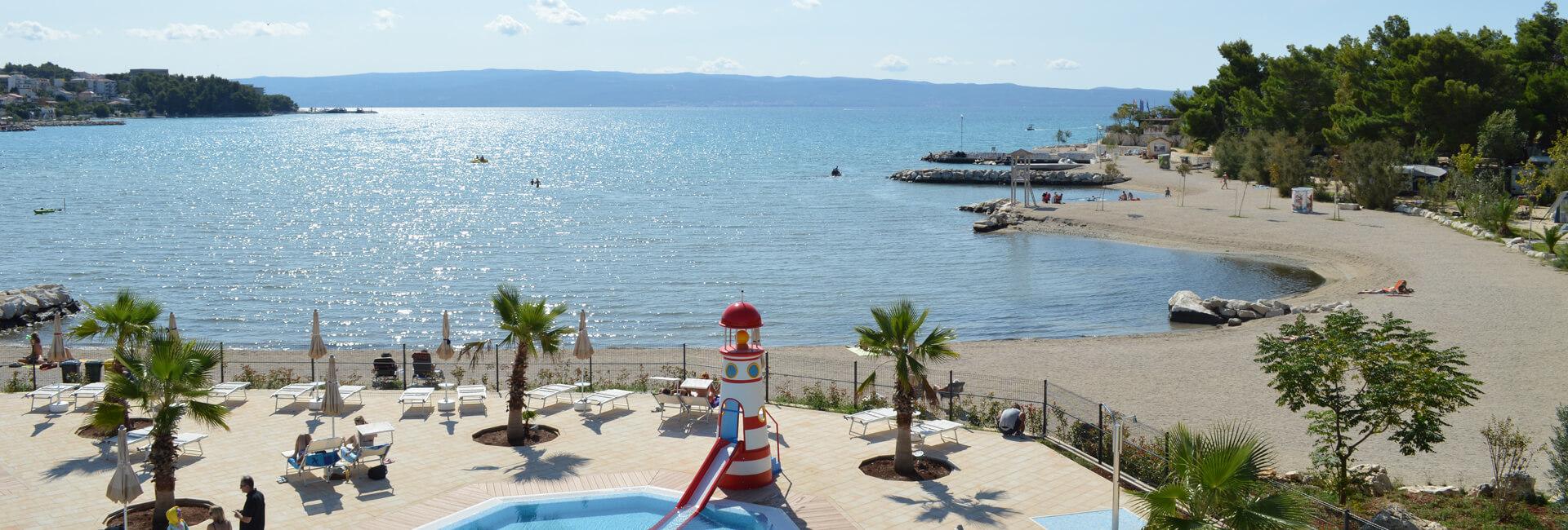 Camping Stobrec Split pool and beach