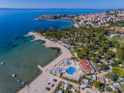 Camping Stobrec Split view from air