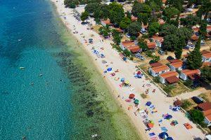 Campingplatz Strasko Strand Luft Blick | AdriaCamps