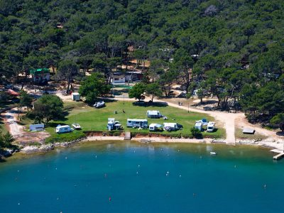 Camping Tasalera lucht view