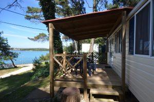 Camping Tasalera Mobilheime Terrasse