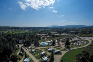 Camping Turist Grabovac air view