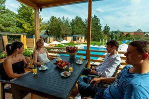 Camping Turist Grabovac mobile homes terrace
