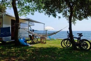 Camping Valkanela pitches sea view
