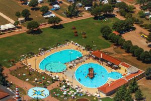 Campsite CampingIN Park Umag air view pools | AdriaCamps