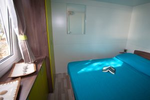 Camping Slamni stacaravans slaapkamer interieur | AdriaCamps