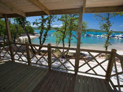 Campeggio Slamni vista dalla terrazza | AdriaCamps