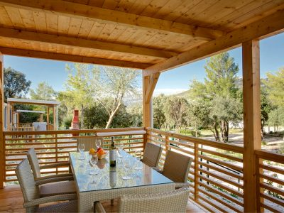 Camping Solitudo mobile homes view from terrace | AdriaCamps