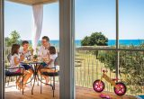 Campsite Aminess Park Mareda Prestige mobile home sea view from terrace | AdriaCamps