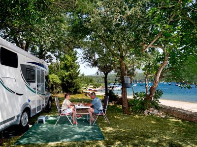 Camping Tunerica pitch near the sea| AdriaCamps