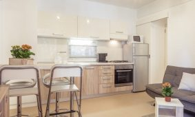 Camping-Mon-Perin-Mobile-homes-Villa-Prestige-Plus-kitchen