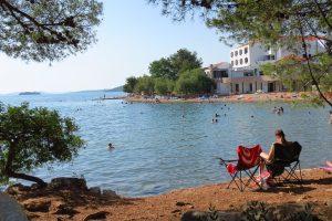Camping Miran Pirovac strand relax plek | AdriaCamps