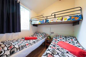 Campsite Tina Vrsar mobile homes duoble bed bedroom | AdriaCamps