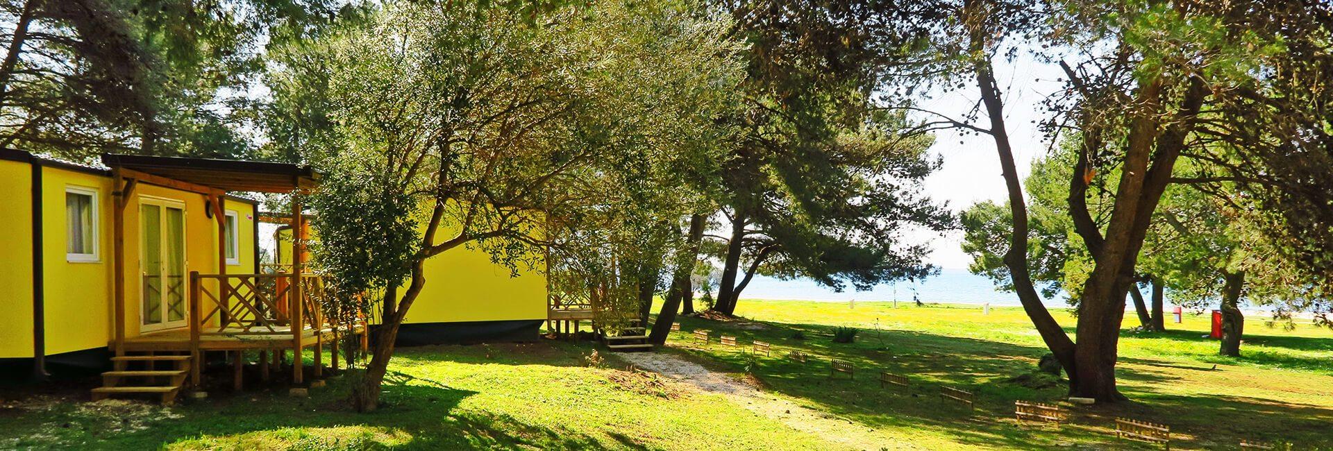 Camping Pineta Fažana - Mobilheime im Meernähe