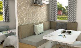 Kamp Park Soline - interijer Comfort Family mobilna kucica interijer | AdriaCamps