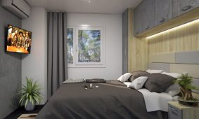 Kamp Santa Marina, Luxury Jacuzzi mobilne kucice - dvokrevetna soba | AdriaCamps