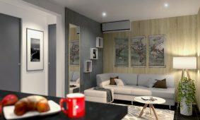 Kamp Santa Marina, Luxury Jacuzzi mobilne kucice - dnevna soba | AdriaCamps