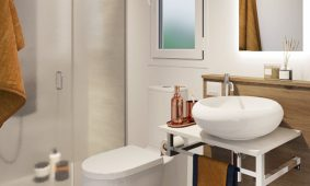 Kamp Santa Marina mobilne kucice Premium Comfort kupaonica | AdriaCamps
