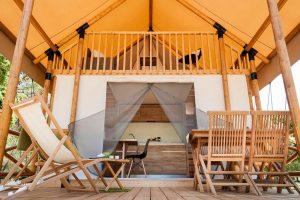 Premium two bedroom safari loft tent (2+2) - Kamp Pila