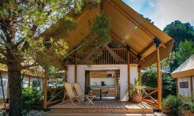 Glamping Two bedroom glamping safari loft tent – sea view