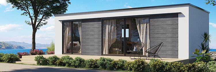 Camping-Lopari-Mediterranean-Blue-Village-mobile-home-exterior